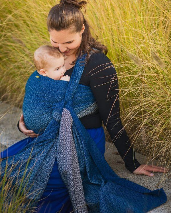 Chusta kółkowa EverySlings – Babyheart Blueberry 2m