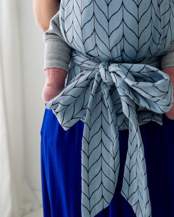 Kavka Handy – nosidełko regulowane Blue Ice Braid
