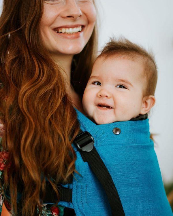 Kavka Multi Age Plus – nosidełko regulowane Turquoise Linen