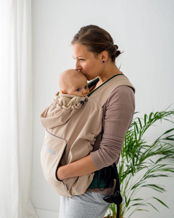 Kavka Baby Cover – Osłonka Beige Softshell